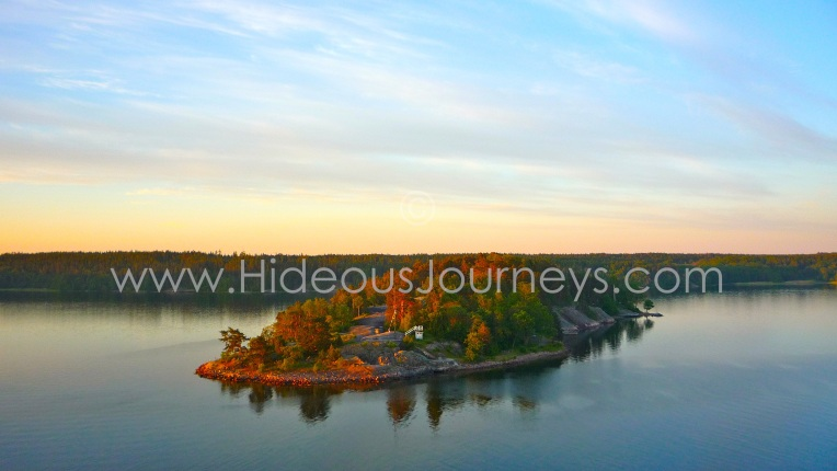 Romance at its peak. Sunrise in the Stockholm archipelago.