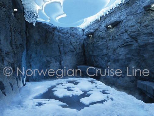 Highlights to look forward to: Chill out, literally, in the all-new Snow Room, an ice-cold arctic environment that stimulates blood circulation throughout the body. (Text by Norwegian Cruise Line)