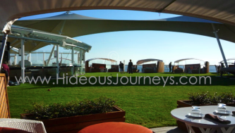 ... or the feel of fresh grass at sea (Lawn Club aboard Celebrity Reflection)