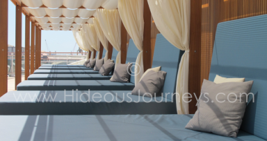 Need some relaxation? How about the sun beds aboard Europa 2...