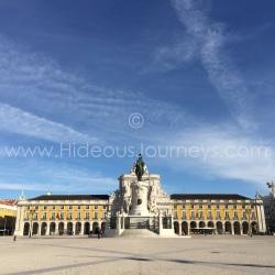 The city´s monumental riverside square:Praca do Comércio