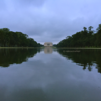 Beautiful at every day: The view over Lincoln Memorial Reflecting Pool onto the memorial itself