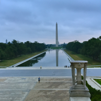 The Washington Mall as seen from Lincoln Memorial. The Washington Monument and the Capitol seen in the background