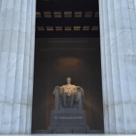Throning in his temple: Abraham Lincoln Memorial