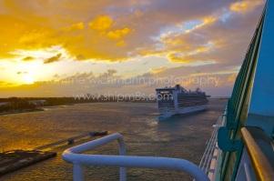 Caribbean Princess departing Nassau, Bahamas.