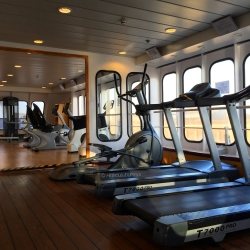 Stay fit at the small yet modern gym