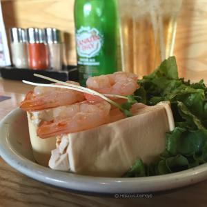 Tofu & Shrimp salad, delicous!