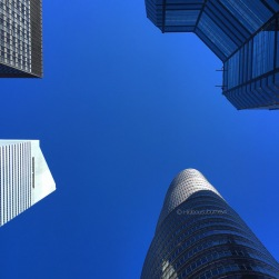 Four in a circle: Citibank & Lipstick Building sharing the New York sky with other highrises