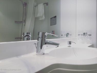 Balcony stateroom 8216 bathroom