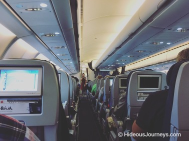 The main part of the cabin is configured with Economy Class seating. Air China does offer a Premium Economy as well as a Business Class product on this flight.