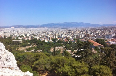 A sea of houses in Athens