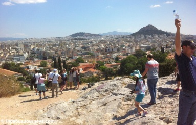 ... and onto the endless skyline of Athens
