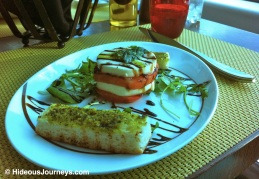 Old Menu: Bufala Mozzarella and Tomatoe