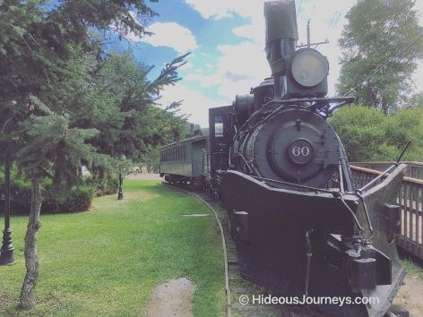 An exhibited train historic train at Idaho Springs
