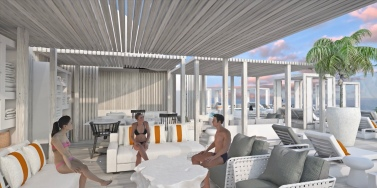 Celebrity EDGE The Retreat Pool Deck - Copyright Celebrity Cruises